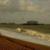 West Pier in a storm