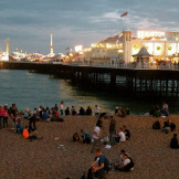 Brighton Pier at 9pm