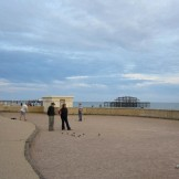 Playing petanque in Hove