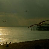 Brighton Beach Sunset